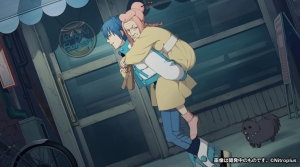 Aoba is carrying an old woman!